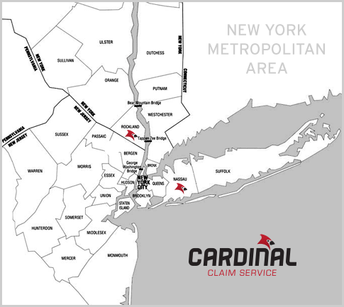 Where we are and the areas we service in the New York Metropolitan Area